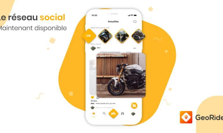 GeoRide lance son réseau social pour motard