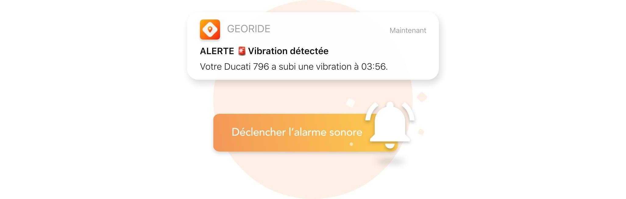 Alarme sonore de GeoRide 2