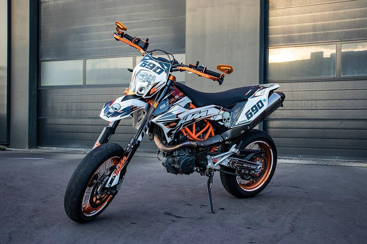 Un antivol moto connecté pour Supermotard
