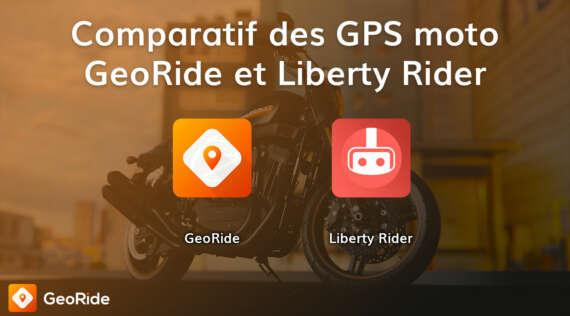 Comparatif des GPS moto GeoRide et Liberty Rider
